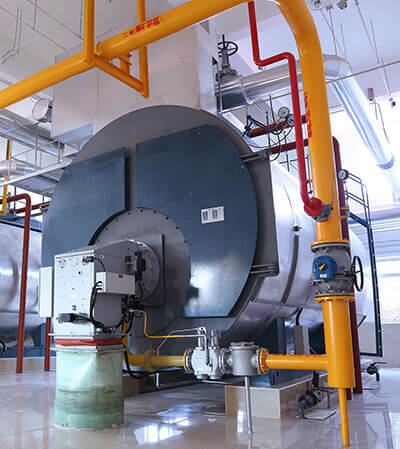 4 ton condensing gas steam boiler project