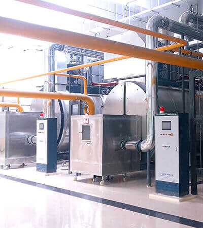 5.6mw condensing hot water boiler project